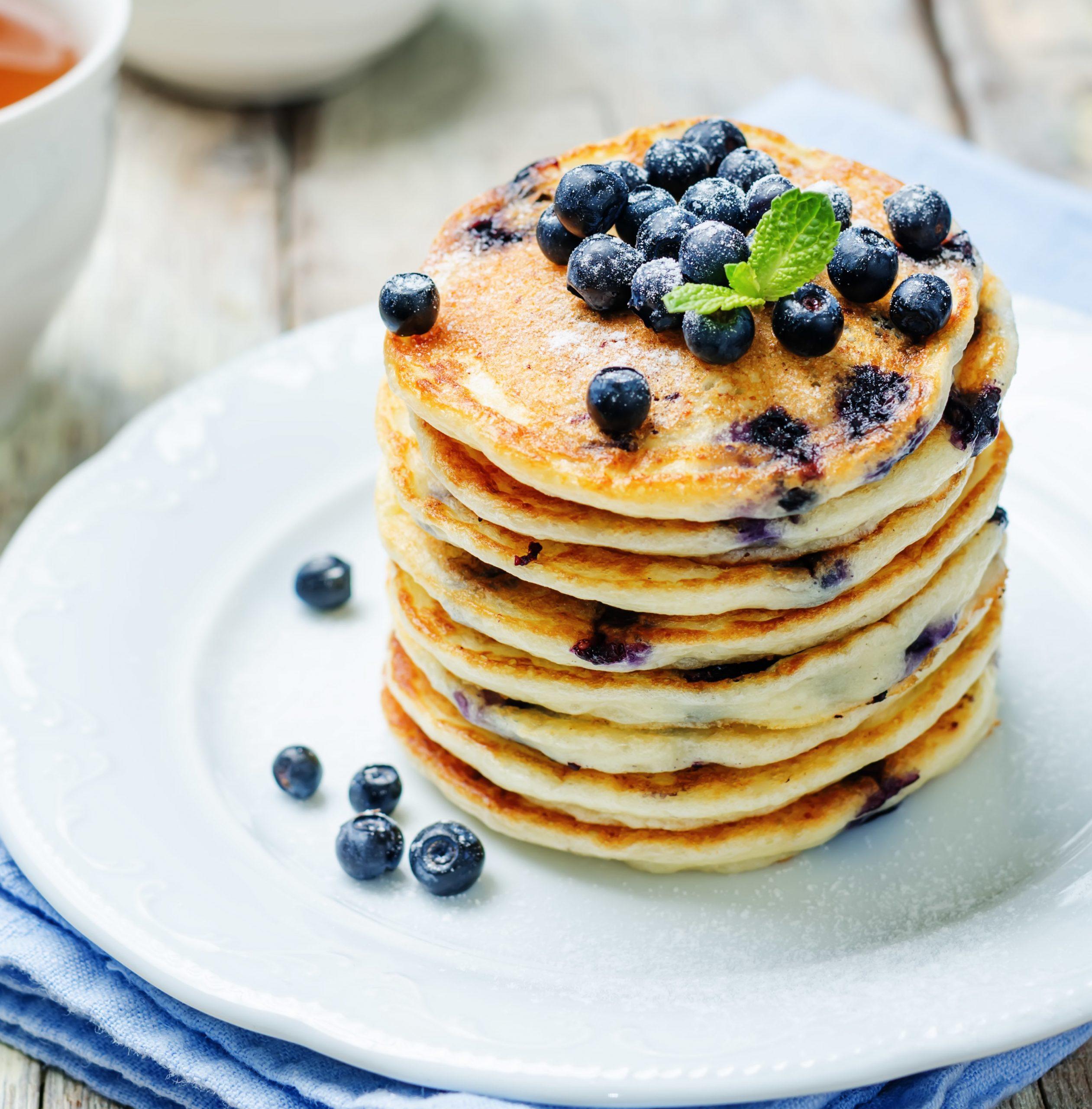 Rețetă Blueberry Pankees cu Sirop de Arțar