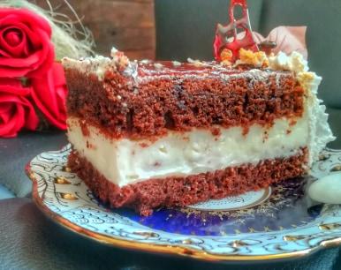 Rețetă tort de brownie cu cremă de vanilie