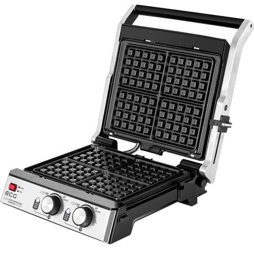 Aparat pentru Waffle si Grill, Ecg 2000 W